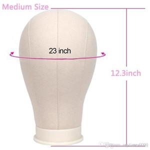 Cabeça de bloco de lona Manequin Cabeça Peruca 21-25 polegadas Manequim Cabeça Modelo Para A Extensão Do Cabelo Peruca Peruca Do Laço Fazendo Styling