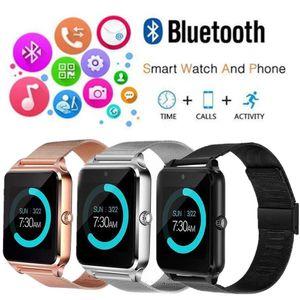 Z60 Ranura de reloj inteligente Bluetooth y Relojes de salud NFC para teléfono Android Pulsera para teléfono inteligente Reloj Smartwatch SIM RELOJ AAA1343