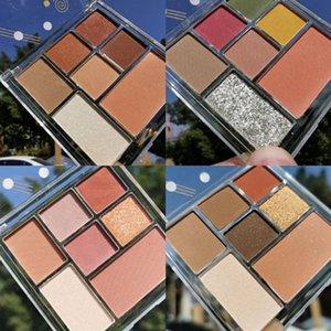7 Color Matte Pearlescent Eyeshadow Palette Lasting Waterproof Eyeshadow Pigment Nose Shadow Cosmetics TSLM1