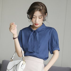 Leading bubble pullover sleeve shirt female design sense niche ol commuting loose pullover shirt 2020 Summer new