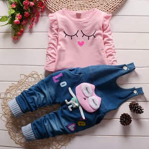 New Baby Girl Clothes TWO PIECES T-shirt and Jeans Girl Suit Bebek Giyim Baby Clothing