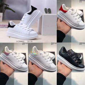 Grande piattaforma per bambini Scarpe per bambini bambini delle ragazze dei ragazzi formatori di lusso dello stilista delle scarpe da tennis all'aperto Bambino Skateboard Shoes 24-35