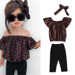 ins progettista tute delle neonate di Natale Hollowen fototecnica bambini delle ragazze del ragazzo 3 calci piazzati T shirt + bambini della mutanda del bambino dei vestiti set