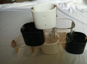 alta qualidade amizade transparente de moda pulseira de acrílico pulseira manguito grandes pulseiras de luxo designer de jóias