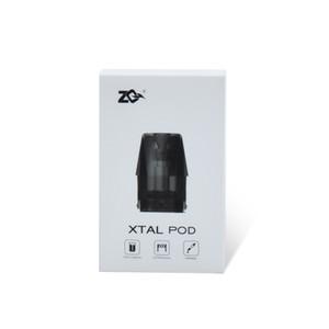 2020 Mais Recente ZQ Xtal Pod Atomizer 1, 8 ml jogo com ZQ Xtal Kit Ni-chrome 1.2 ohm coil fast shipping 100% original