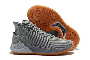 2019 Yeni Varış Gül 9 Basketbol Ayakkabıları Yüksek Kaliteli Erkek Derrick Rose Ayakkabı 10 Yüksek Üst Spor Sneakers Ayakkabı