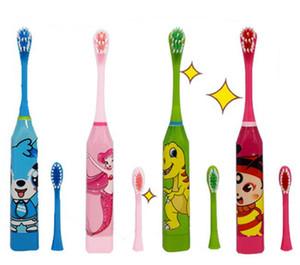 Çocuk Elektrikli Diş Fırçası Ağız Hijyeni Masaj Yıkama Hediye Doraemon Karikatür Ultrasonik 2 fırça kafaları ile çocuk Diş Fırçaları 1 ADET