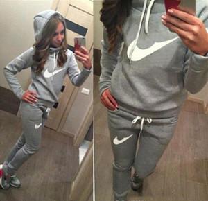 Kadınların Spor Suit iyi setleri Plus Size Sonbahar Kış Kaban svitshot hoodie kadın sweatshirt'ü için yeni yepyeni eşofman nakliye ve Koşucular