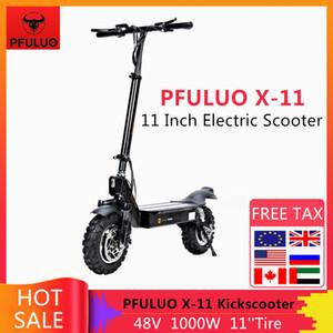 2019 Nouveau PFULUO X-11 intelligent Scooter électrique 1000W Moteur 11 pouces Conseil 2 roues hoverboard planche à roulettes 50 kmh Vitesse maxi hors route