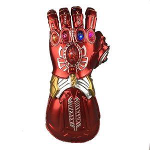 Más nuevos Avengers 4 Endgame Iron Man Máscaras Guante infinito Hulk Cosplay Brazo Thanos Niños y adultos Guantes de PVC Brazos Apoyos de cosplay