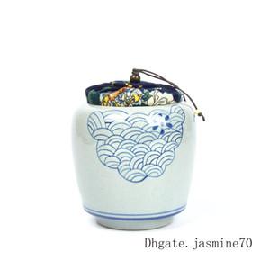 بوتيك فوجيان ده هوا الصين هجر الفاظ تذكار الحيوانات الأليفة من رماد الخزف الأزرق والأبيض جرة