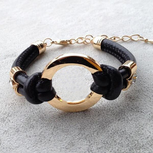 New Fashion Accessories Handmade Retro PU Leather Bracelet Hot Men's Ladies Fashion Bracelet Men Women Jewelry