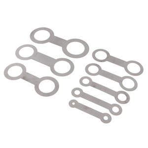 8 Pieces Silver Saxophone Woodwind Instrument Leather Pads Repair Tools for Pad Iron