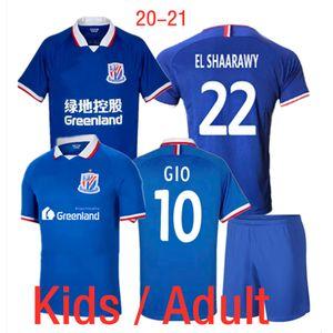 Çocuklar Yetişkin Shanghai Shenhua Futbol Forma Seti 2020 2021 Erkekler Çocuk GIO Guarin IGHALO EL Shaarawy SHINWOOK Futbol Üniforma Çinli Lig Takımı