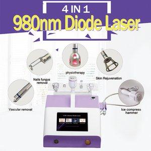 4IN1 980nm 다이오드 레이저 정맥류 혈관 제거 곰팡이 손톱 치료 피부를 진정시키기 위해 차가운 망치로 피부 회춘