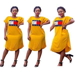 Tasarımcı elbiseler seksi gevşek baskılı elbise one piece elbise moda bayanlar için elbiseler günlük elbiseler klw0859