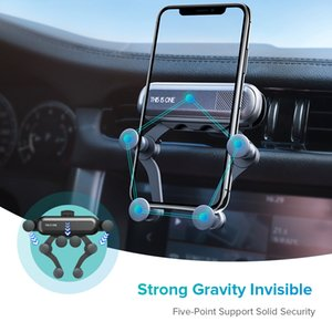 Universal Gravity Bracket Car Phone Holder Air Vent Mount Stand Clip For Smartphone in Car Holder for iPhone X XS MAX Samsung S8