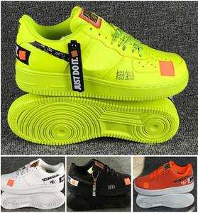 NIKE AIR FORCE 1 ONE Venda quente calassis à prova d 'água Air Skateboarding calçados esportivos branco preto verde orange 4 cores opcionais Casal skate tamanho sneaker EUR36-45