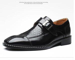 Design Classic Crocodile Pattern Men Business Dress Shoes Pointy PU Leather Formal Shoe Big Size 47 Male Party Wedding Footwear da8