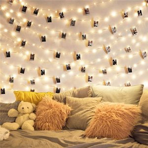 2m 5m 10m Photo Clip String Lights Led Usb Outdoor Battery Operated Garland With Clothespins For Home Decoration String Lights