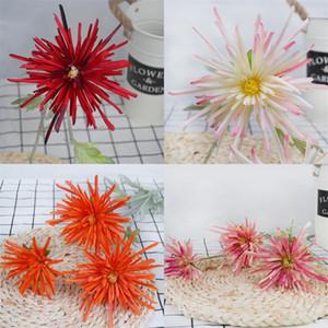 Hochzeit Hand Blumen Multi Farben Künstliche Seidenblume Wohnkultur Schmücken Krabben Klaue Chrysantheme Heißer Verkauf 6 8xh L1
