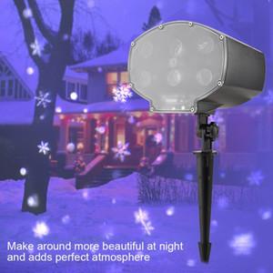 Weihnachten Moving Head Schneeflocke Licht LED Projektor Licht Wasserdichte Lampe Weihnachtspartei Lichter Für Home Disco DJ Dekoration