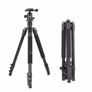 Heißer verkauf großhandel q555 63-zoll professionelle tragbare reise aluminium kamerastativ mit 360 grad kugelkopf für digitale slr dslr kameras
