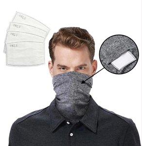Filtro cabeza cuello de la bufanda de la cubierta con seguridad magia bufandas cara Venda de múltiples funciones del pañuelo pañuelo de ciclo al aire libre Máscara montar LJJA4072