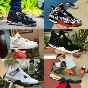 2020 Nike Air Jordan 4 retro jordans der Männer Tattoo White Cement Encore Flügel Fire Red Singles Cool Gray Turnschuhe Reines Geld Trainers