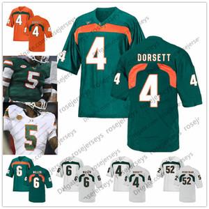 NCAA Miami Hurricanes # 4 Phillip Dorsett 5 Andre Johnson Edgerrin James 6 Antrel Rolle Lamar Miller 8 Duke Johnson Jr. Ritiro 2019 Jersey