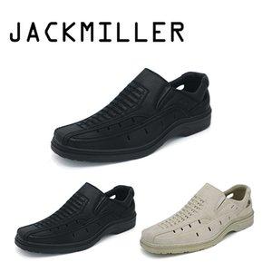 Jackmiller Top Brand Summer Men Sandals Super Light Comfortable Sandals men Breathable Color Black & Beige Free shipping 40-45