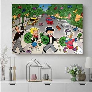 알렉 독점 애비로드 캔버스 그림 벽 예술 그림 장식 그림 침실 현대 홈 장식 액세서리 191004