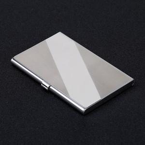 Porta biglietti da visita in acciaio inossidabile per ufficio 10 stili Porta carte di credito in metallo color metallo Portafoglio moda 5 8sxa E1
