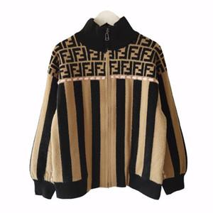alta qualidade de inverno nova moda malha casaco mulheres casaco de lã jacquard zipper grossa camisola de manga longa casaco de mulheres casuais de impressão tricô