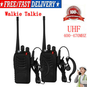 Talkie-walkie UHF 400-470MHz Portable 2-Way Radio USB Chargeur + Oreillette US