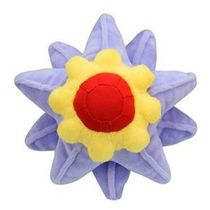 28cm Anime Starmie Staryu starfish Plush toy soft Small animal Elf stuffed doll Fine collection Quality gift