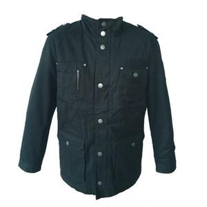 Chaqueta Waidx Parkas invierno de los hombres de algodón caliente grueso Outwear chaquetas y abrigos Jaquetas Masculina Inverno Negro abrigos de tela Dropship
