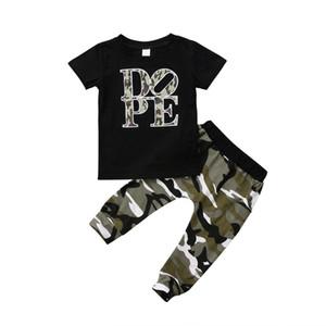 Camo Kid Baby Boys Clothes Set малыш повседневная одежда одежда лето с коротким рукавом письмо топы футболки брюки хлопок 1-5 Т
