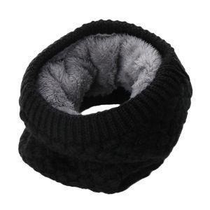 New Female Winter-warmer Schal-Frauen-Winter-Fest Chunky Zopfmuster Wolle Snood Unendlichkeit Neck Warmer Gugel Kragen Kreis Schal