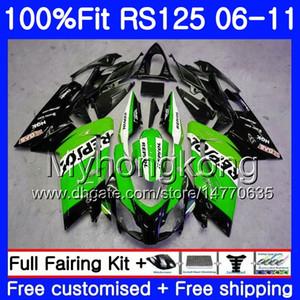 Aprilia Repsol Green İçin Enjeksiyon RS4 RS 125 2006 2007 2007 2008 2009 2010 2011 314HM.27 RSV125 RR RS-125 RS125 06 07 08 09 10 11 OEM Kaplama