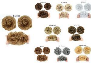 Salissante bouclés synthétique Bun Bande élastique Extension de cheveux Mode CHOUCHOU beaucoup de couleurs Sélection Chignon Dessiner cordes Conception
