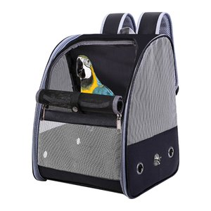 Outdoor Cage Bird Parrot Large Mesh Zipper Travel Bag Fashion Accessories Foldable Carrier Adjustable Strap Pet Backpack