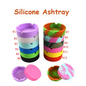 Portable Camouflage Soft Silicone Rubber Ashtray Pluminous Tray Bracket Anti-boiling Multicolor Cigarette Holder tools Smoking accessories