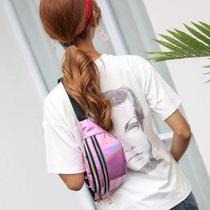 2018 Women Fanny Pack Leg Bag Handbag Reflective Laser Punk Steam Women Waist Bag Women's Waist Belt Pack Women's Pa