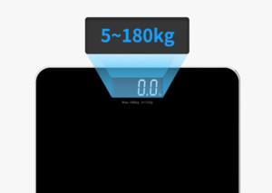 Весы для тела электронной цифровой Вес Баланс Закаленное стекло Светодиодный дисплей 180кг