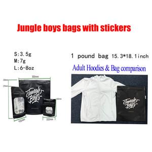 3.5g 7.0g OZ 1 libra de la selva de los muchachos bolsas de embalaje a prueba de niños con pegatinas para en seco Flores de la hierba azul Conectado Galletas Runtz conectados