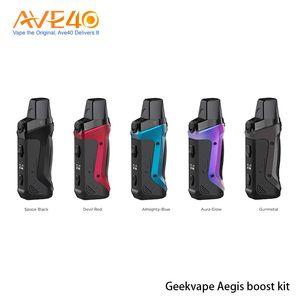 1500mAh batarya Boots Mesh Rulo tarafından Orijinal Geekvape Aegis Boost Kiti Güç Aegis Boost Pod boşaltın 3.7 ml
