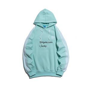 Uomini SweatshirtDesigner Braccio di modo tre barre verticali con cappuccio ricamato Petto Slim Trendy Maglione comodo 2019 di nuova vendita calda