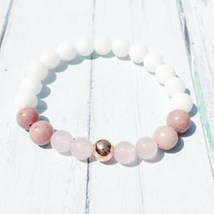 Design de Moda Jeaniver deusa da fertilidade Pulseira Women` Amor Divino Espiritual Pulseira Shell Bead Rose Quarz Pulseira Rhodonite