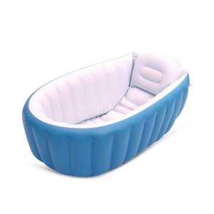 Portable bébé Baignoire pliant gonflable Baignoire Coussin piscina avec pompe à air intérieur Enfants Jouer Piscine piscine